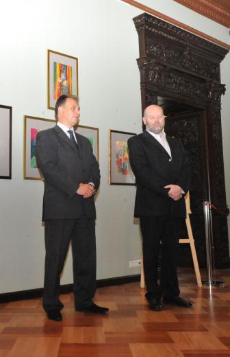 А.А. Бондаренко - директор МИСР, Б.А. Илларионов - заместитель председателя Коми