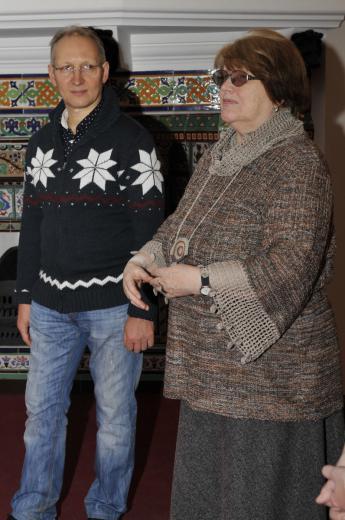 Андрей Соболев - президент ''Исследовательского Фонда Рерихов'', Марина Полевая