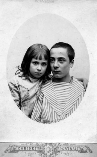 Степан Митусов и Елена Шапошникова (Рерих). 1880-е.