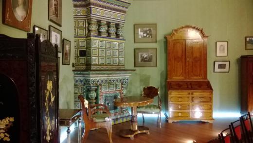 Постоянная экспозиция, посвященная российскому периоду жизни и творчества семьи Рерихов