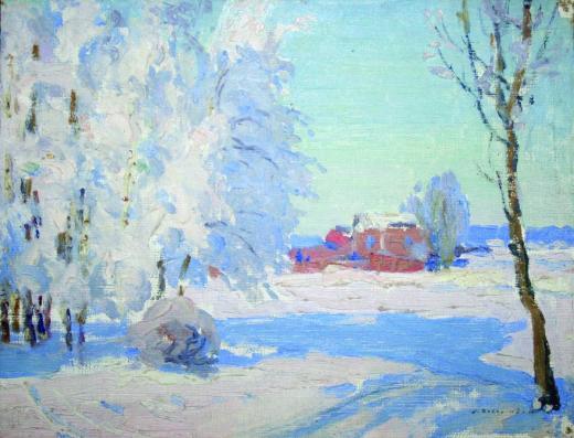 Зебериньш Индрикис. Зимний пейзаж. 1916. © Латвийский национальный художественны