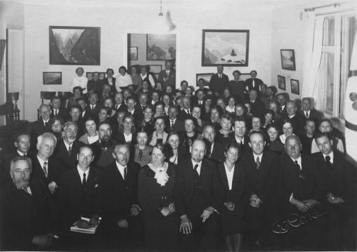 Участники Конгресса обществ Рериха Прибалтийских стран. Рига, октябрь 1937. © Ла
