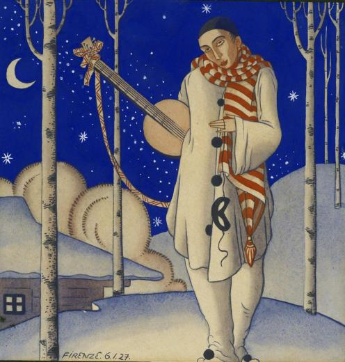 Струнке Никлавс. Пьеро зимой. 1927. © Латвийский национальный художественный муз