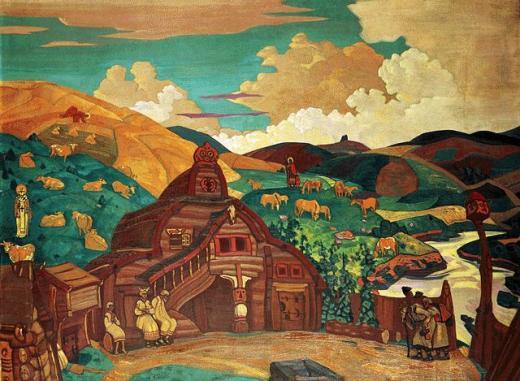 Н.К.Рерих. Три радости. 1916. Государственный Русский музей