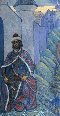 Н.К.Рерих. Витязь. (Эскизы для «Богатырского фриза»). 1910  Государственный Ру