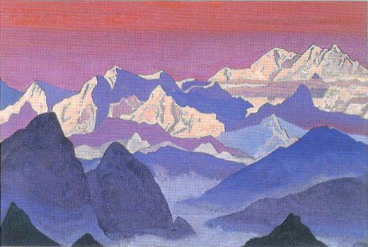 Н.К. Рерих. Канченджунга. 1936. Государственная Третьяковская галерея